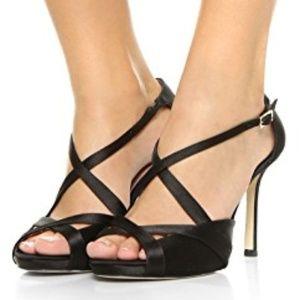 Kate Spade | Fensano Strappy Satin Black Sandal